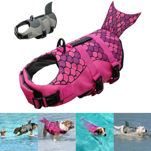 Dog Life Vest Shark/Mermaid Design
