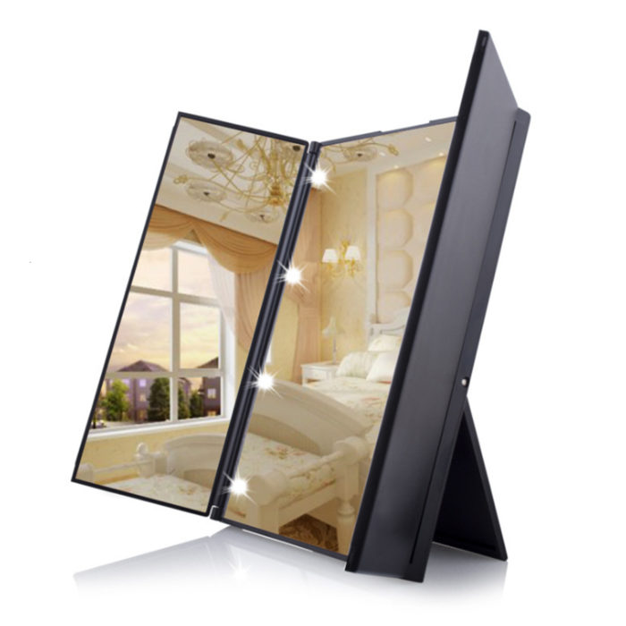 Tri Fold Vanity Mirror Travel Makeup Mirror