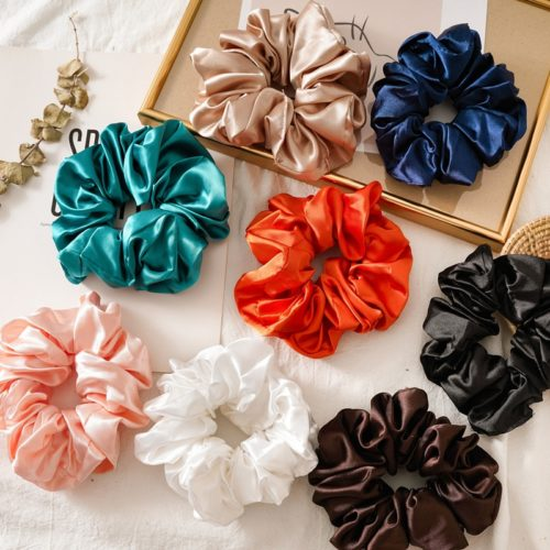 Silk Scrunchie Oversized Hair Accessory