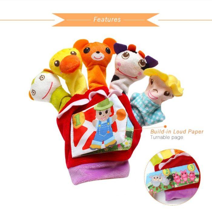 Puppet Glove with Mini Cloth Book