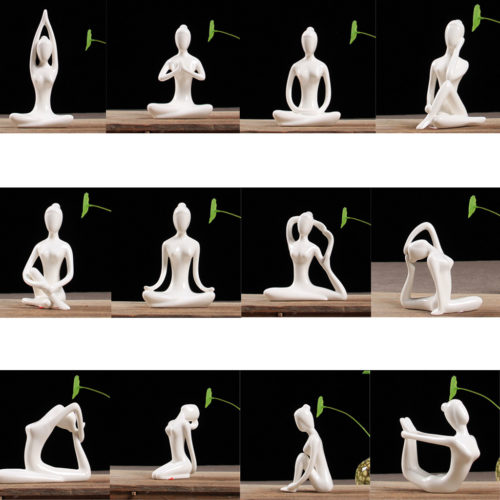 Yoga Figurine Ceramic Ornaments (12pcs)