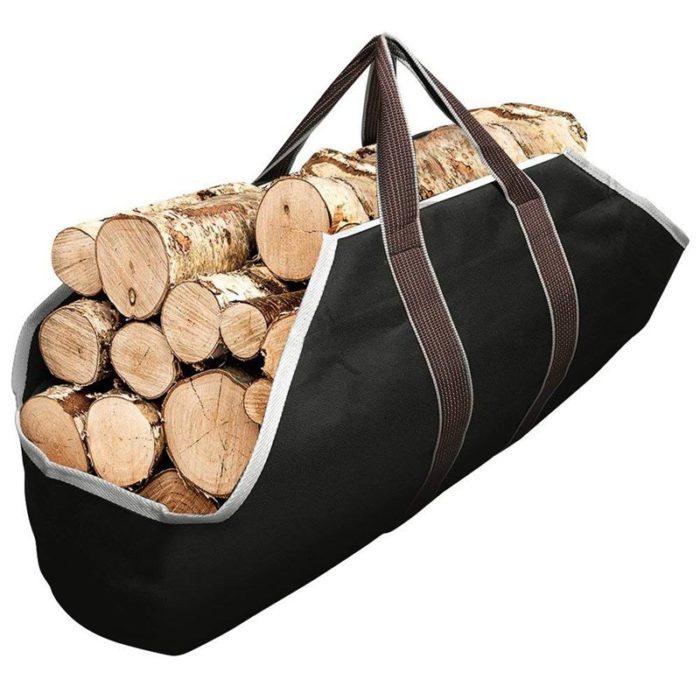 Firewood Bag Canvas Log Carrier