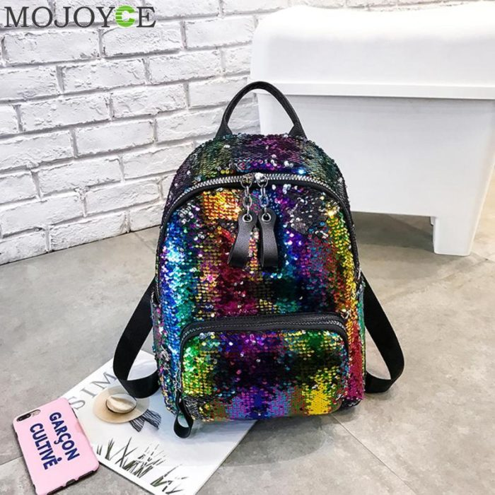 Girls Sequin Backpack Fashionable Bag