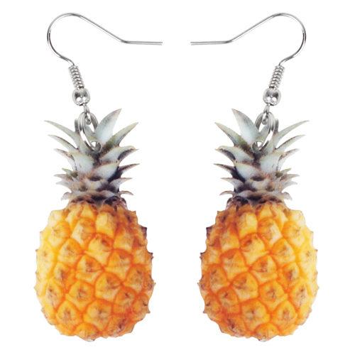 Pineapple Earrings Summer Fruit Earrings