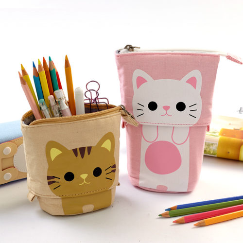 Cat Pencil Case Cute Pen Holder