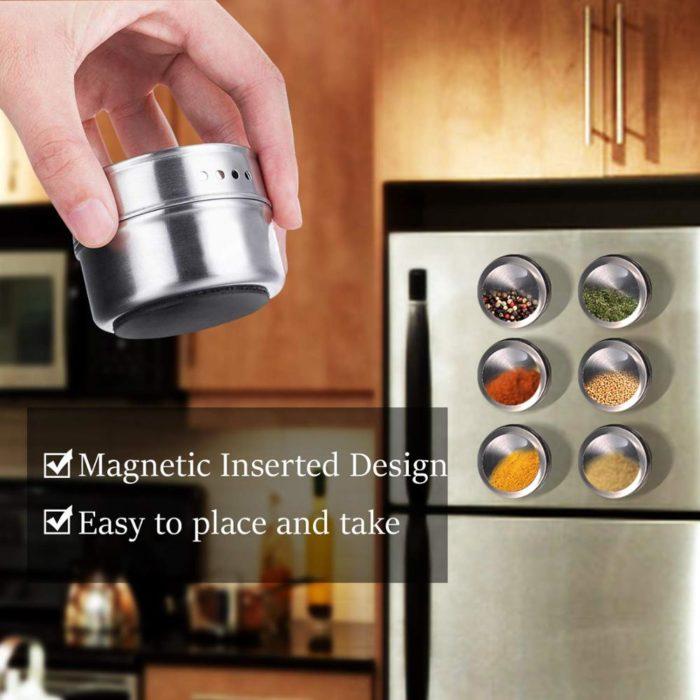 Magnetic Spice Jars Seasoning Steel Cans