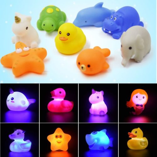 Light Up Bath Toy LED Floating Animal