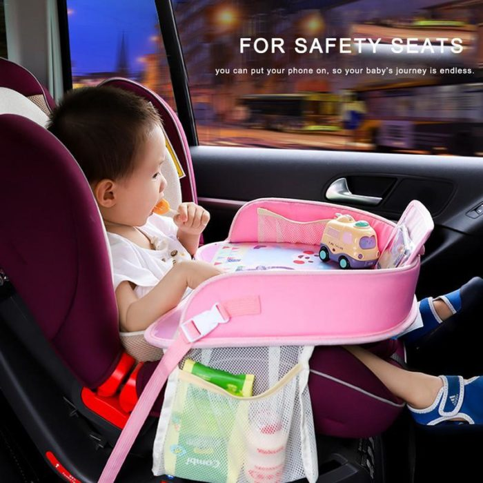 Car Seat Travel Tray Kids Portable Tray