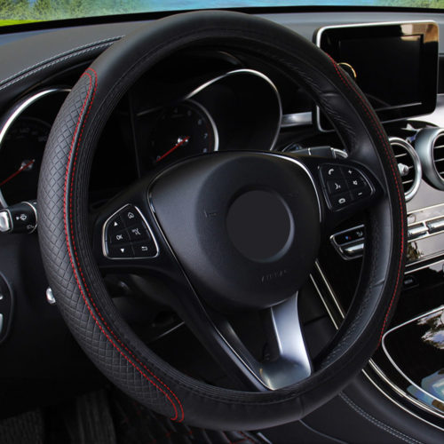 Car Steering Wheel Wrap Cover
