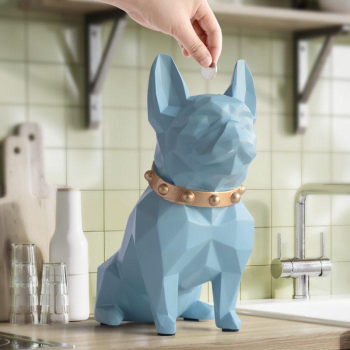 Dog Piggy Bank Coin Storage Figurine