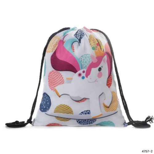 Girls Drawstring Bag Cute Printed Bag
