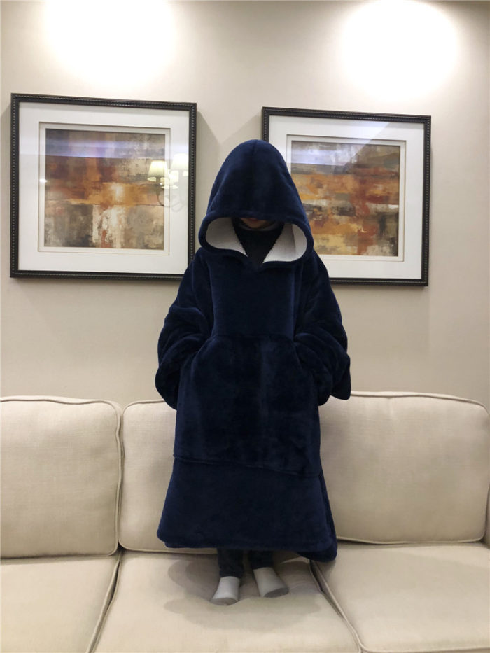 Hooded Blanket for Adults with Pockets