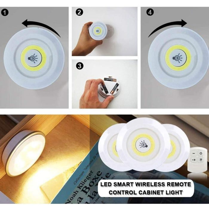 LED Puck Lights with Remote Control