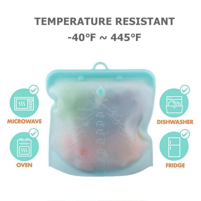 Reusable Silicone Food Bag Food Storage Bag