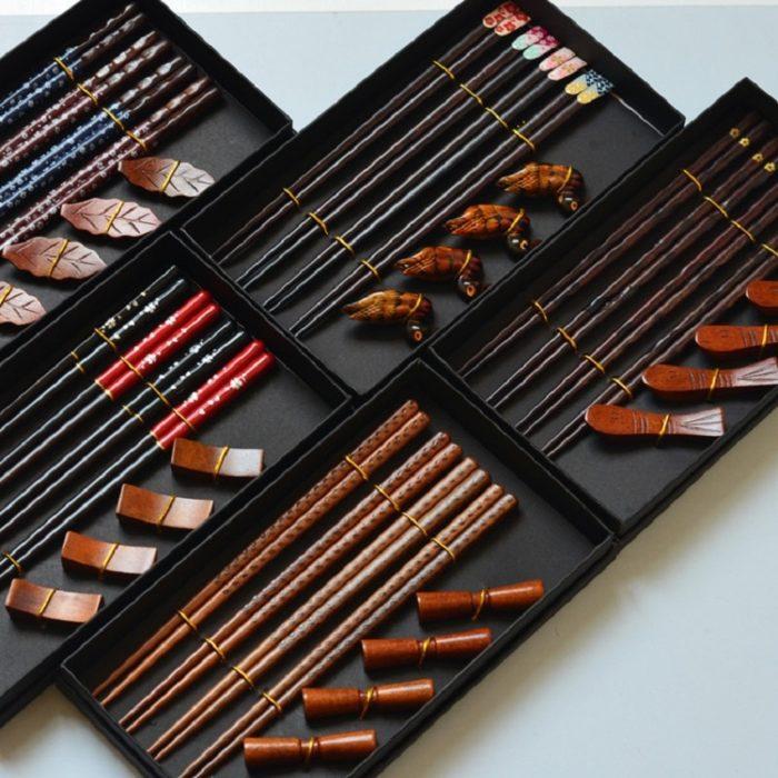 Chopstick Set with Chopstick Holders