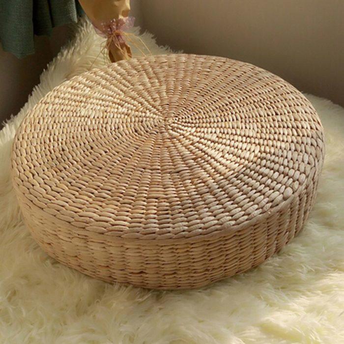 Wicker Cushion Floor Pillow