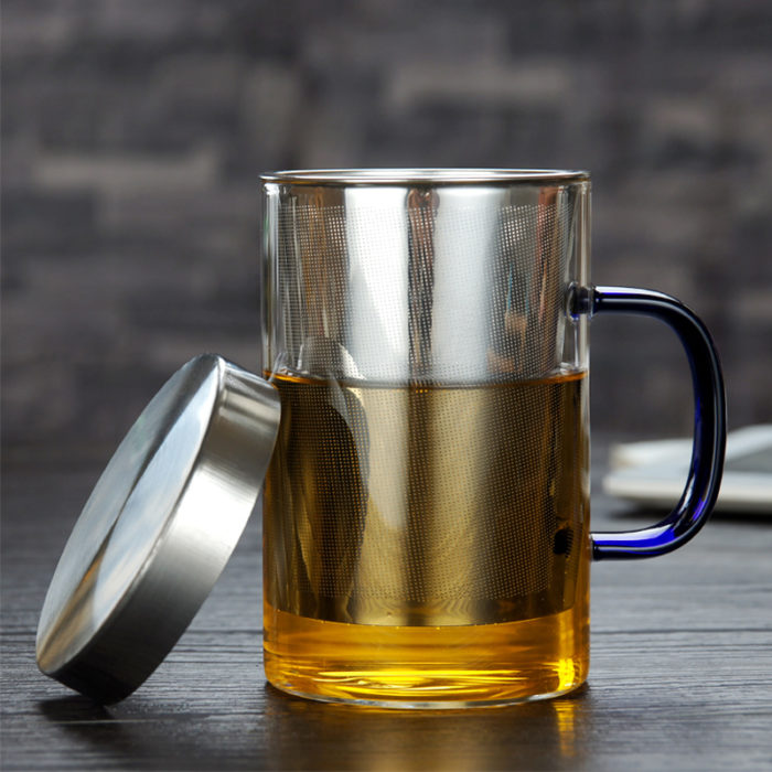 Glass Tea Infuser Cup with Cover