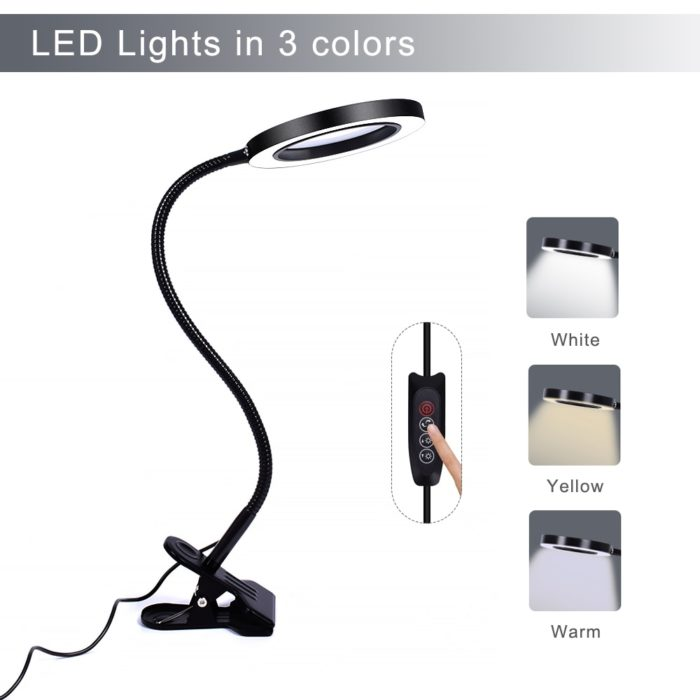 Magnifier with Light Flexible Lamp