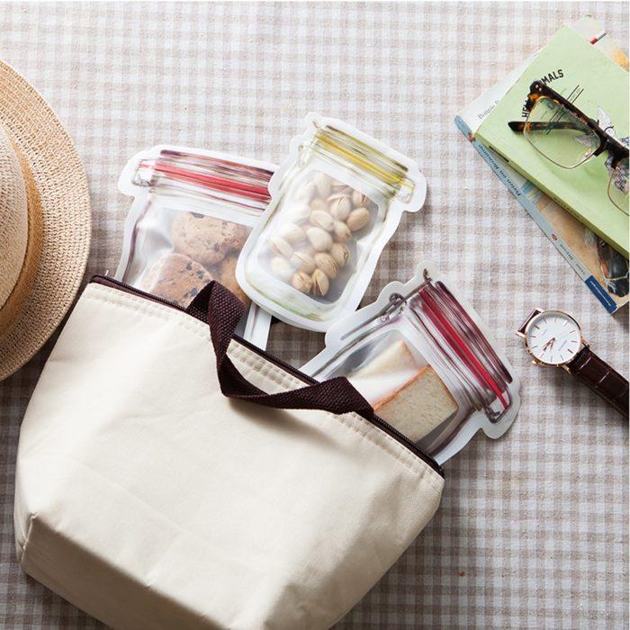 Mason Jar Bags Ziplock Storage Bag