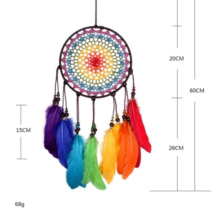 Rainbow Dream Catcher Home Decor