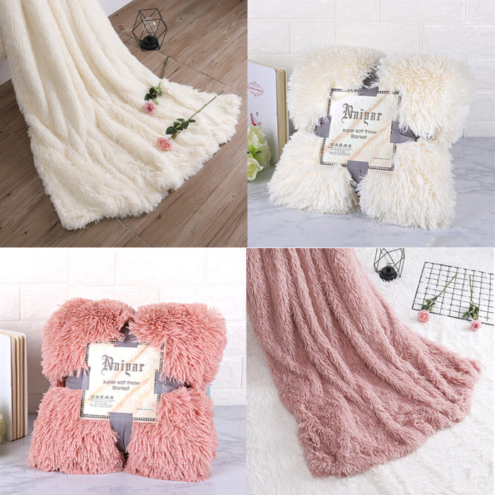 Faux Fur Blanket Extra Soft Material