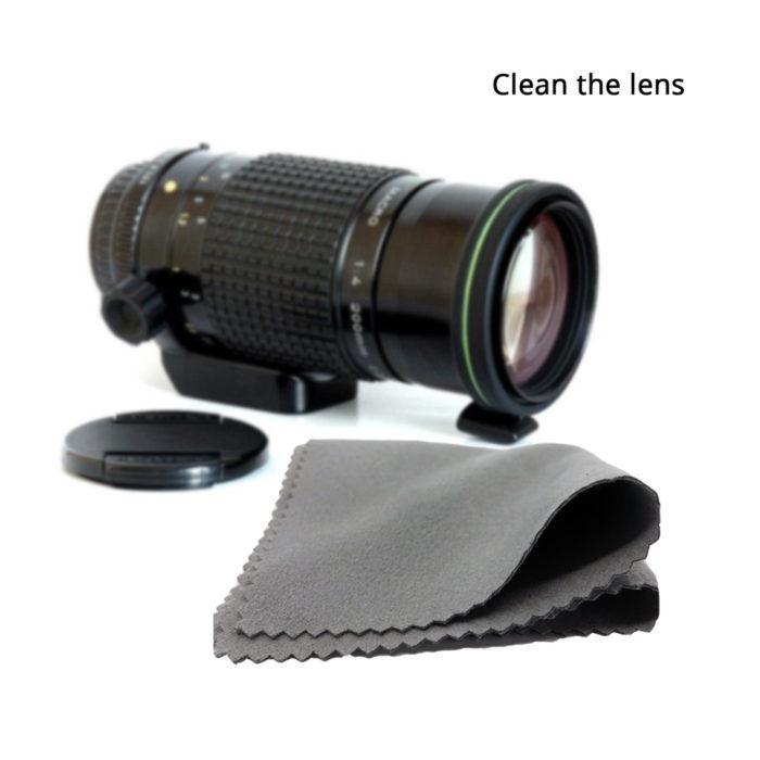 Lens Cleaning Cloths Microfiber Wipes (8Pcs.)