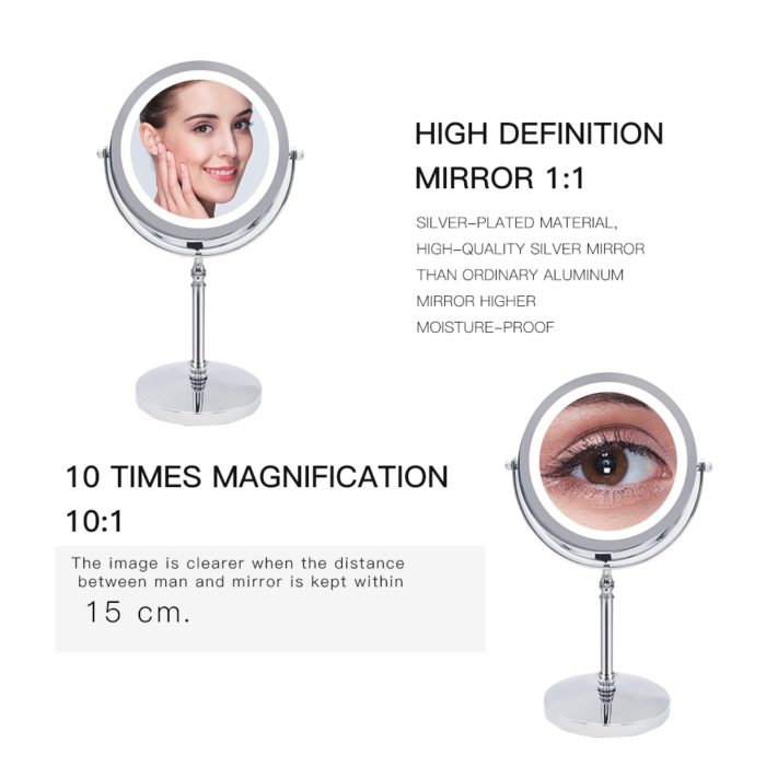 10x Magnifying Mirror LED Cosmetic Mirror