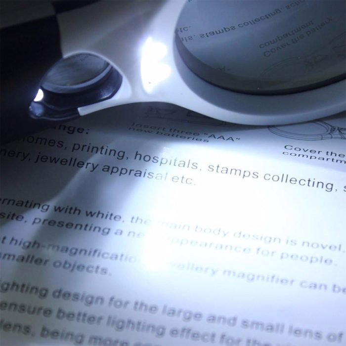 Lighted Magnifying Glass LED Dual Lens