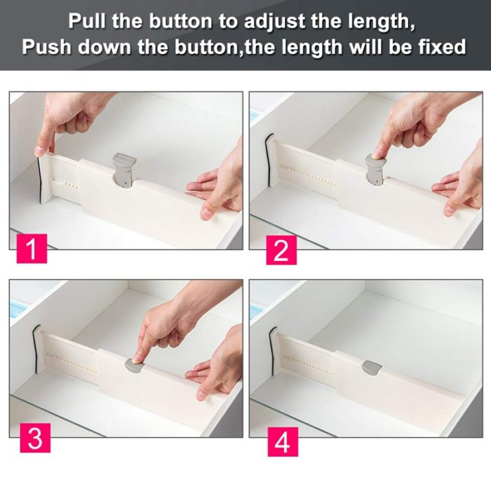 Expandable Drawer Dividers Set (5pcs)
