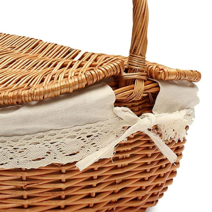 Wicker Picnic Basket with Inner Liner