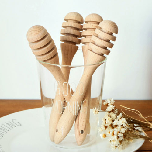 Wooden Honey Dipper Honey Stirrer