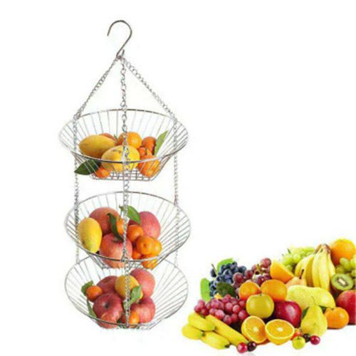 Hanging Vegetable Basket Three-Tier
