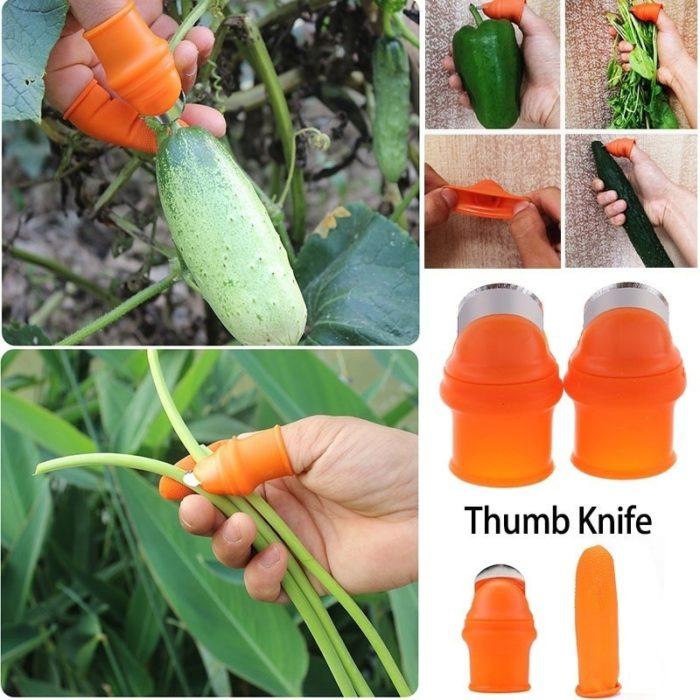 Thumb Cutter Harvesting Tool