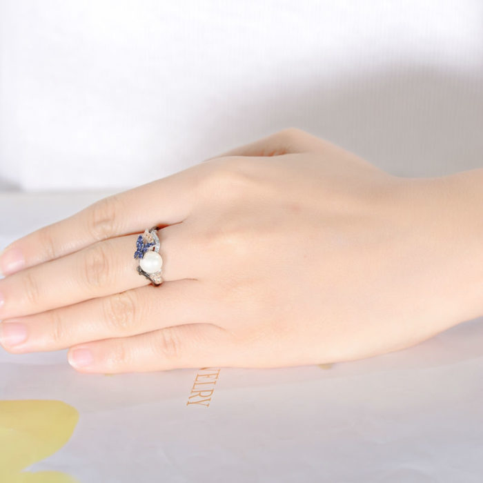 Pearl Ring For Women Sterling Silver Ring