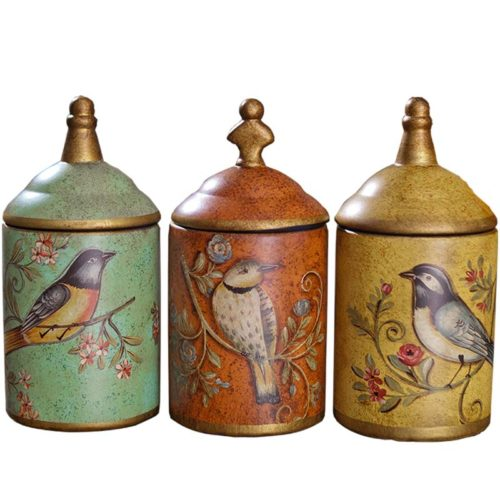 Ceramic Kitchen Canisters Vintage Design