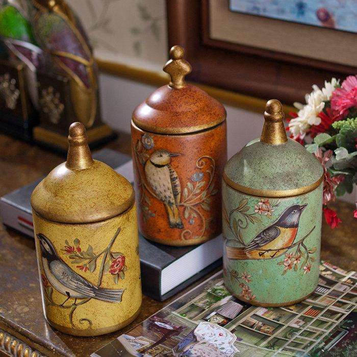 Ceramic Kitchen Canisters Vintage Design