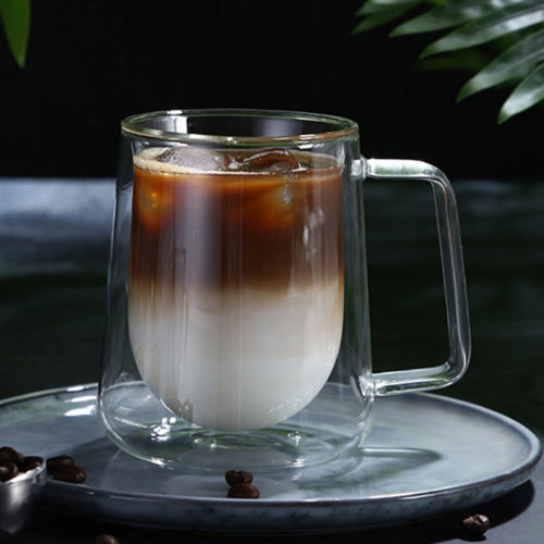 Double Wall Glass Mug Coffee Cup