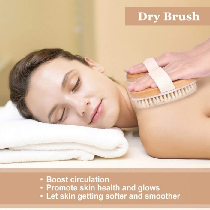 Body Scrub Brush Wooden Exfoliator