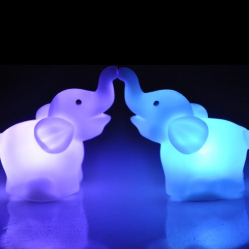 Elephant Night Light Color Changing Lamp