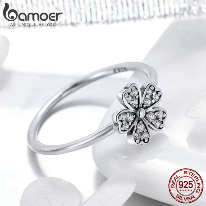 Daisy Ring 925 Sterling Silver Jewelry Ring