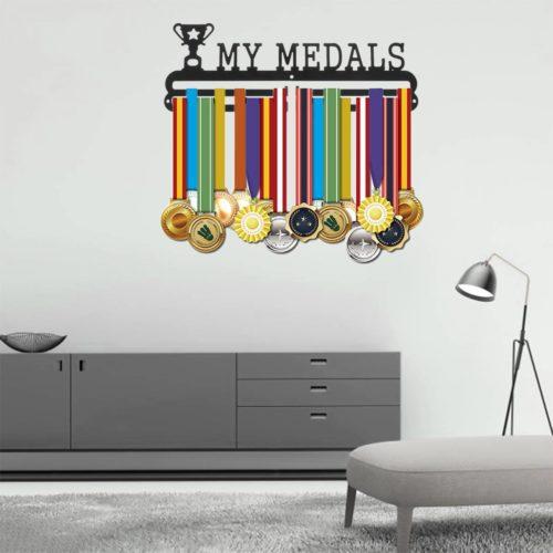 Medal Display Rack Wall-Mounted Hanger