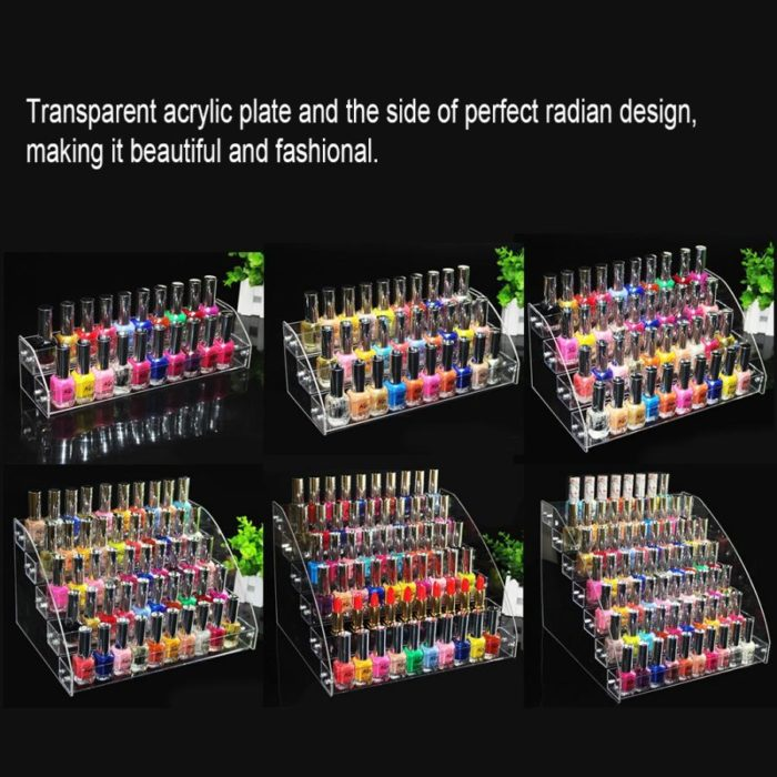 Nail Polish Rack Clear Nail Polish Organizer