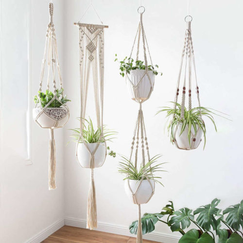 Macrame Plant Hanger Set (4pcs)