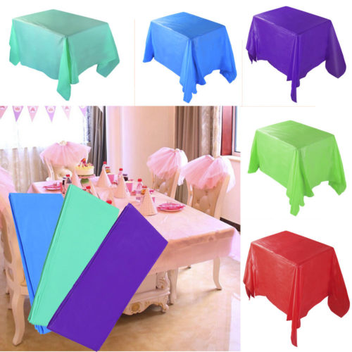 Plastic Tablecloth Disposable Cover