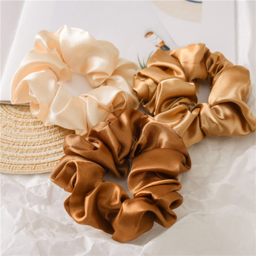 Silk Hair Tie Ponytail Scrunchie