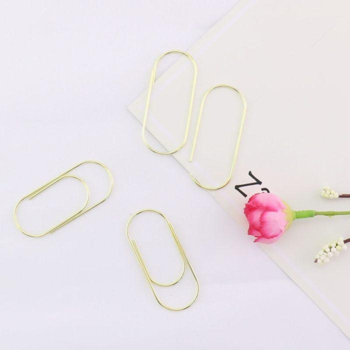 Metal Paper Clip Stationery Set