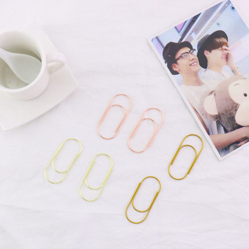 Metal Paper Clip Stationery Set