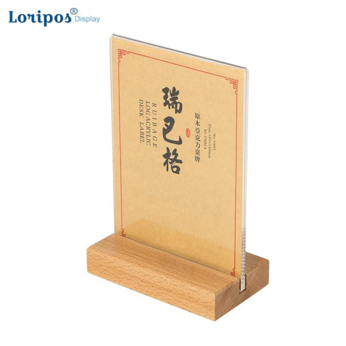 Menu Holder Double-Sided Frame