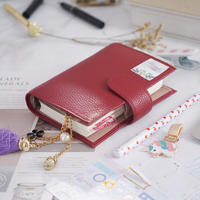 Mini Binder Leather Journal Cover A7