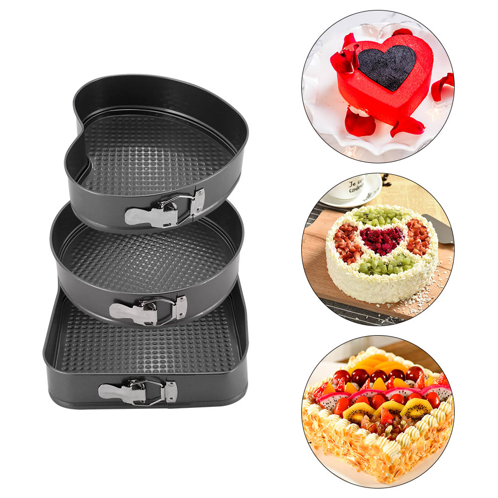 set of 3 Pillow 3D cushion cake tins